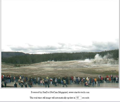 Old Faithful webcam