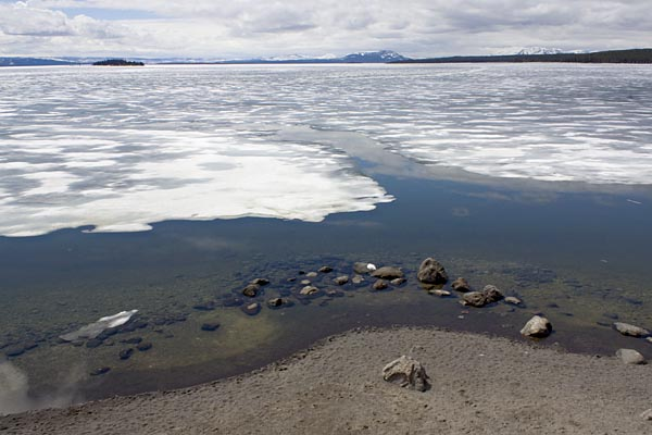 Spring thaw, Yellowstone Lake