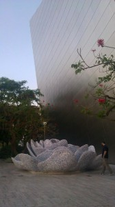 Disney Hall Garden big rose fountain for Lilly Disney