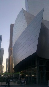 Disney Hall southwest side
